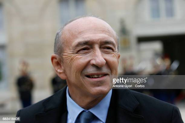Lyon's mayor Gerard Collomb arrives arrives at the Elysee Palace prior to the handover ceremony for New French President Emmanuel Macron at Elysee...