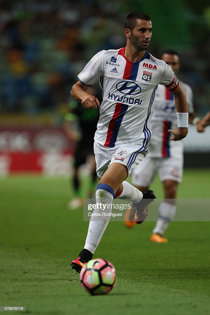Lyon's midfielder Maxime Gonalons during the Friendly match between Sporting CP and Lyon at Estadio Jose Alvalade on July 23, 2016 in Lisbon, Portugal.