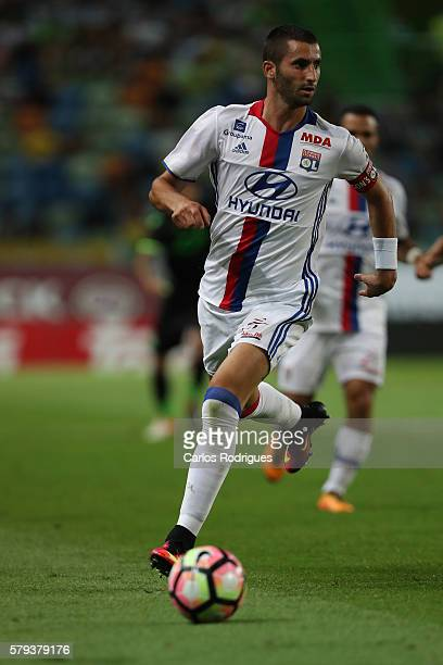 Lyon's midfielder Maxime Gonalons during the Friendly match between Sporting CP and Lyon at Estadio Jose Alvalade on July 23 2016 in Lisbon Portugal