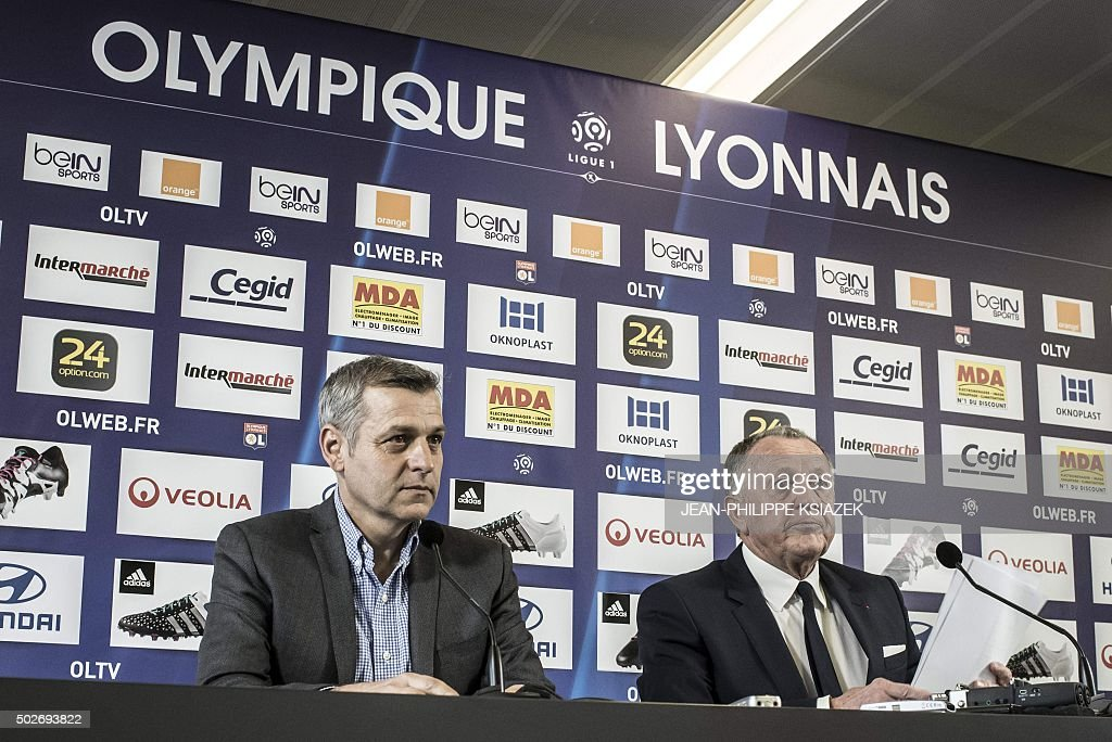 FBL-FRA-LIGUE1-LYON-PRESSER : News Photo