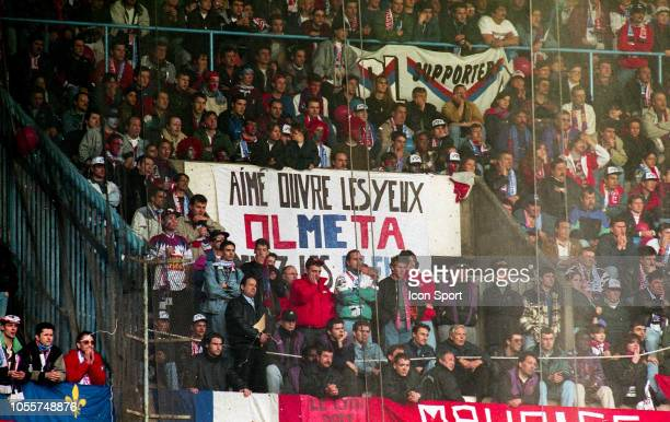 Lyon's supporters banner for Aime Jacquet during the League Cup Final match between Lyon and Metz at Parc des Princes Paris France on 6th April 1996