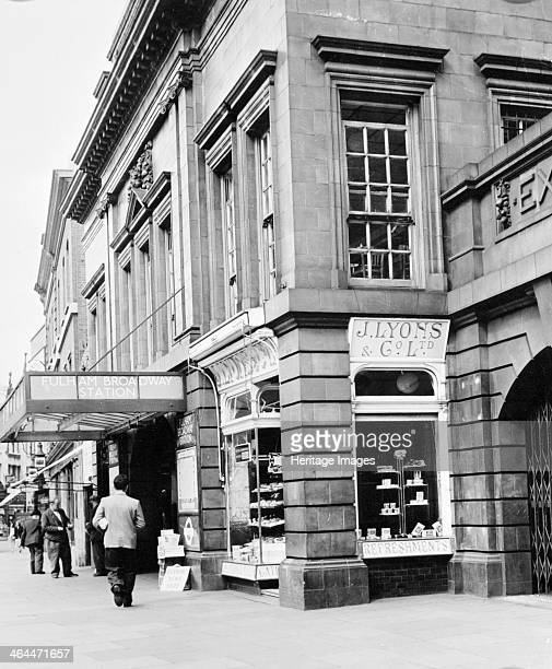A Lyons teashop on the corner of Fulham Broadway tube station London