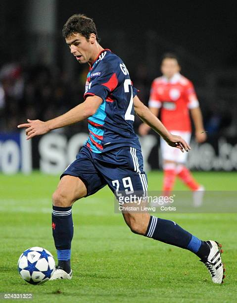 Lyons Yoann Gourcuff during the uefa champions League soccer matchGroupBOlympique Lyonnais vs Benfica at Gerland stadium in LyonFrancePhoto by...