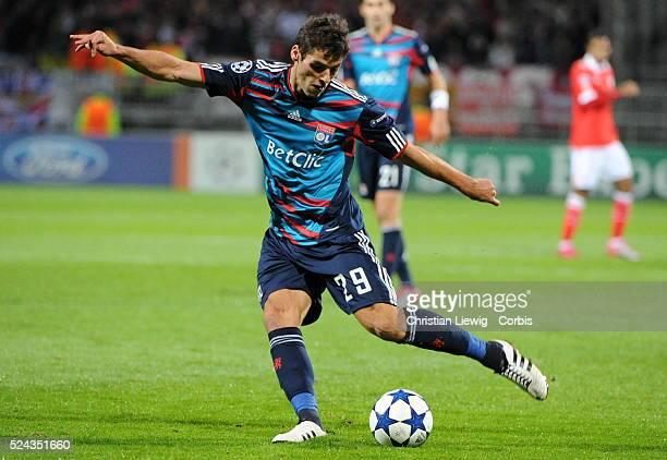 Lyons Yoann Gourcuff during the uefa champions League soccer matchGroupBOlympique Lyonnais vs Benfica at Gerland stadium in LyonFrancePhoto by...