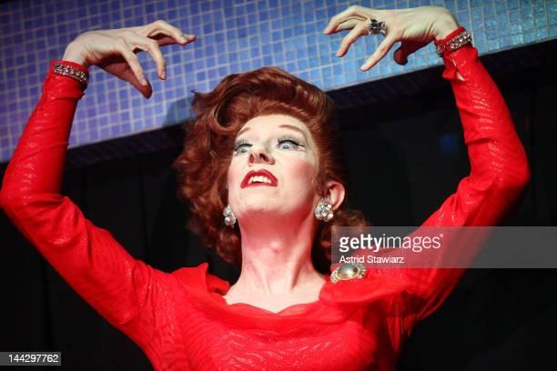 Lypsinka performs during A SINsational Make Up Extravaganza Benefitting AIDS Walk New York at Splash Bar on May 13, 2012 in New York City.