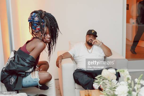 Lyric Michelle and Punch attend The One And Only, Dick Gregory, Album Release Event on September 16, 2021 in Burbank, California.