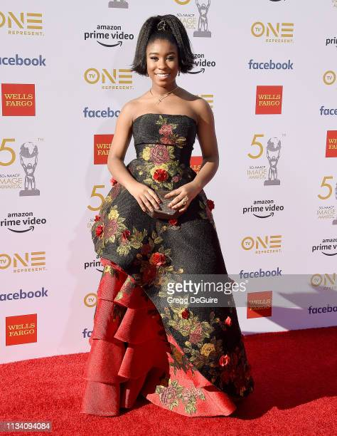 Lyric Ross arrives at the 50th NAACP Image Awards at Dolby Theatre on March 30 2019 in Hollywood California
