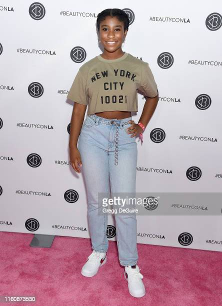 Lyric Ross attends Beautycon Los Angeles 2019 Pink Carpet at Los Angeles Convention Center on August 10 2019 in Los Angeles California