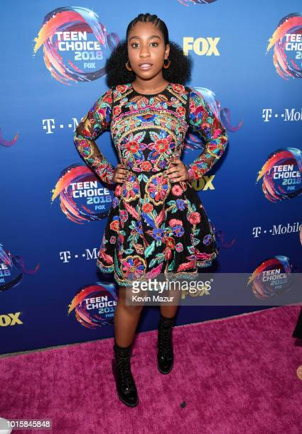 Lyric Ross attends FOX's Teen Choice Awards at The Forum on August 12 2018 in Inglewood California