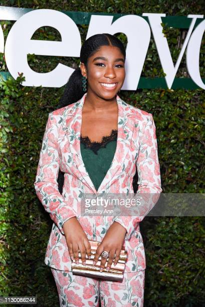 Lyric Ross attends Teen Vogue's 2019 Young Hollywood Party Presented By Snap at Los Angeles Theatre on February 15 2019 in Los Angeles California