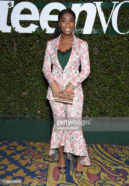 Lyric Ross attends Teen Vogue's Young Hollywood Party Presented By Snap at Los Angeles Theatre on February 15 2019 in Los Angeles California
