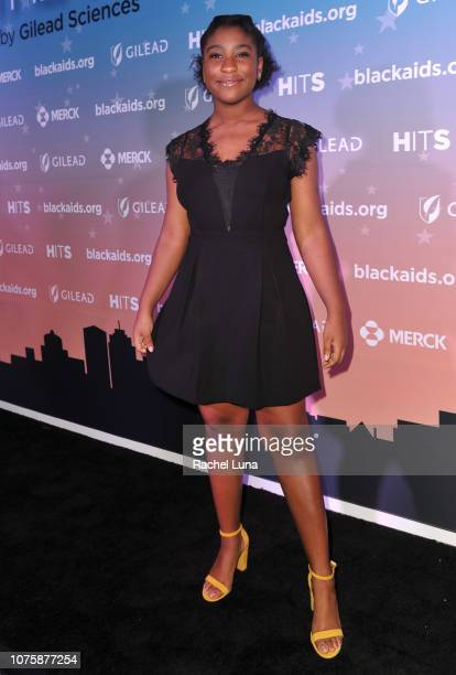 Lyric Ross attends the Black AIDS Institute's 2018 Heroes in The Struggle Gala at California African American Museum on December 01 2018 in Los...