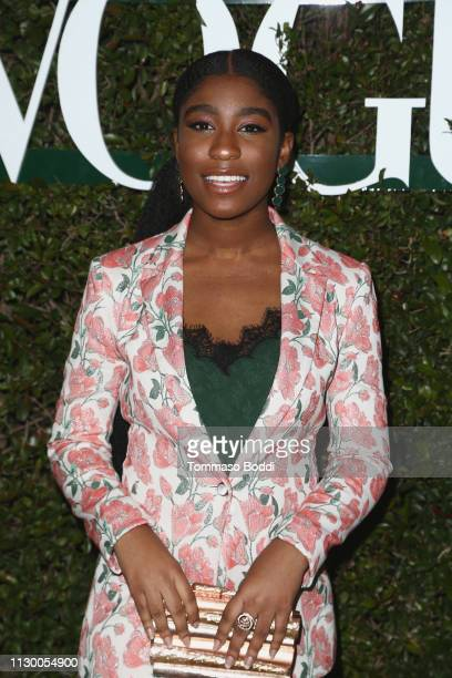 Lyric Ross attends the Teen Vogue's 2019 Young Hollywood Party Presented By Snap at Los Angeles Theatre on February 15 2019 in Los Angeles California