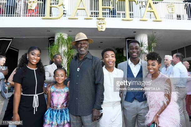 Lyric Ross Faithe C Herman Glynn Turman Asante Blackk Ethan Herisse and Eris Baker attend the BAFTA Los Angeles BBC America TV Tea Party 2019 at The...