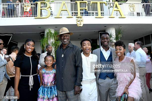 Lyric Ross Faithe Herman Glynn Turman Asante Blackk Ethan Herisse and Eris Baker attend the BAFTA Los Angeles BBC America TV Tea Party 2019 at The...