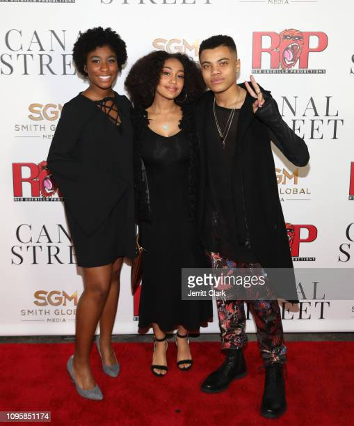 Lyric Ross Lexi Underwood and Reed Shannon attend Smith Global Media's World Premiere Of Canal Street at ArcLight Hollywood on January 17 2019 in...