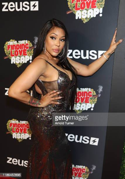 Lyrica Anderson attends Tokyo Toni's Finding Love ASAP Los Angeles premiere at AMC Theaters Universal City Walk on November 08 2019 in Universal City...