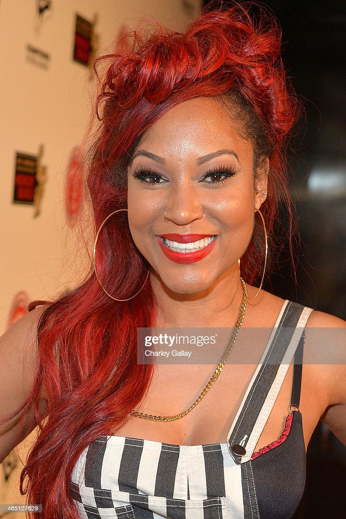 Lyrica attends the annual Midnight Grammy Brunch hosted by Ne-Yo and Malibu Red at Lure Nightclub on January 26, 2014 in Hollywood, California.