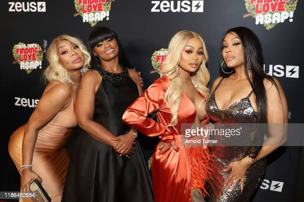 Lyrica Garrett Tokyo Toni Blac Chyna and Lyrica Anderson attend Tokyo Toni's Finding Love ASAP Los Angeles premiere at AMC Theaters Universal City...