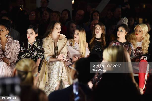 Lyrica Okano Amy Forsyth Lizzy Green Ashley Gerasimovich Francia Raisa and Gigi Gorgeous attends the Vivienne Tam front row during New York Fashion...