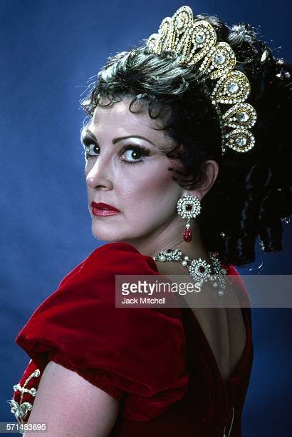 Lyriccoloratura soprano Anna Moffo photographed in costume as 'Tosca' in 1977