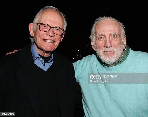 Lyricist Alan Bergman and poet/composer Rod McKuen attend ASCAP's reception honoring Marvin Hamlisch Bergman and his wife Marilyn Bergman at the...
