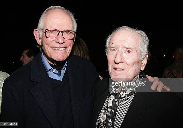 Lyricist Alan Bergman and songwriter Jerry Leiber attend ASCAP's reception honoring Marvin Hamlisch Bergman and his wife Marilyn Bergman at the...