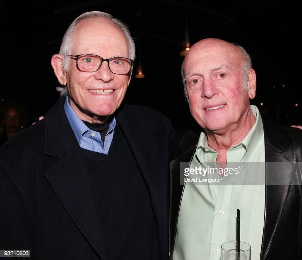 Lyricist Alan Bergman and songwriter Mike Stoller attend ASCAP's reception honoring Marvin Hamlisch Bergman and his wife Marilyn Bergman at the...