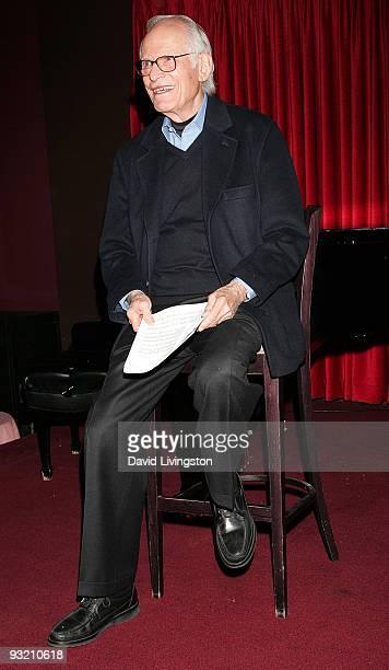 Lyricist Alan Bergman attends ASCAP's reception honoring Marvin Hamlisch Bergman and his wife Marilyn Bergman at the Catalina Bar Grill on November...