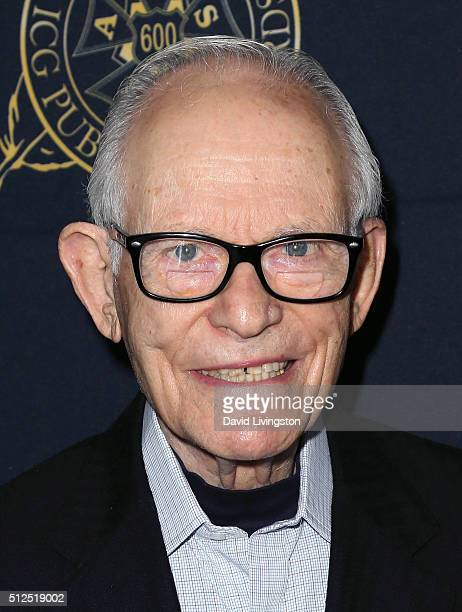 Lyricist Alan Bergman attends the 53rd Annual International Cinematographers Guild Publicists Luncheon at The Beverly Hilton Hotel on February 26...