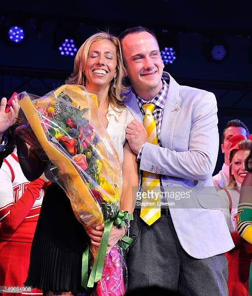 Lyricist Amanda Green and librettist Jeff Whitty attend Bring It On The Musical Broadway Opening Night Curtain Call at St James Theatre on August 1...