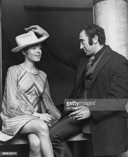 Lyricist and composer Lionel Bart and actress Shani Wallis at a press reception at the Savoy Hotel in London for the upcoming screen adaptation of...