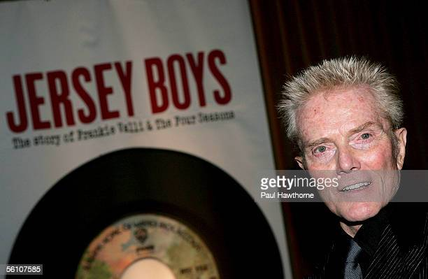 Lyricist Bob Crewe attends the play opening night of 'Jersey Boys' after party at the Marriott Marquis November 6 2005 in New York City