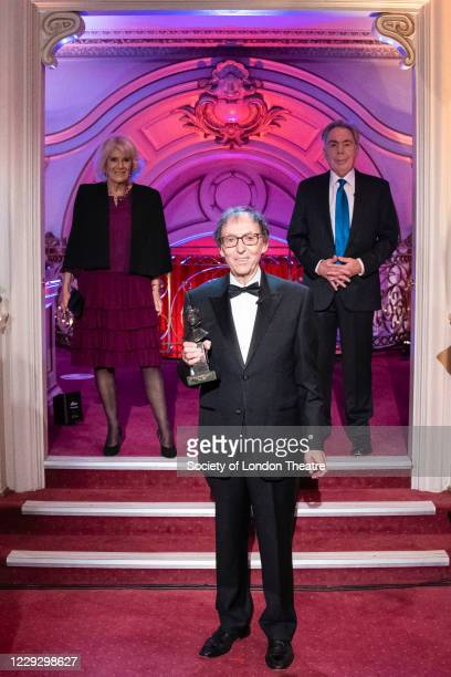 Lyricist Don Black, who received his Olivier Special Award from Lord Andrew Lloyd Webber and Camilla, Duchess of Cornwall during the Olivier Awards...