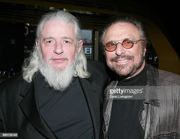 Lyricist Gerry Goffin and songwriter Barry Mann attend a launch party for the Jerry Leiber and Mike Stoller book Hound Dog at The Conga Room at LA...