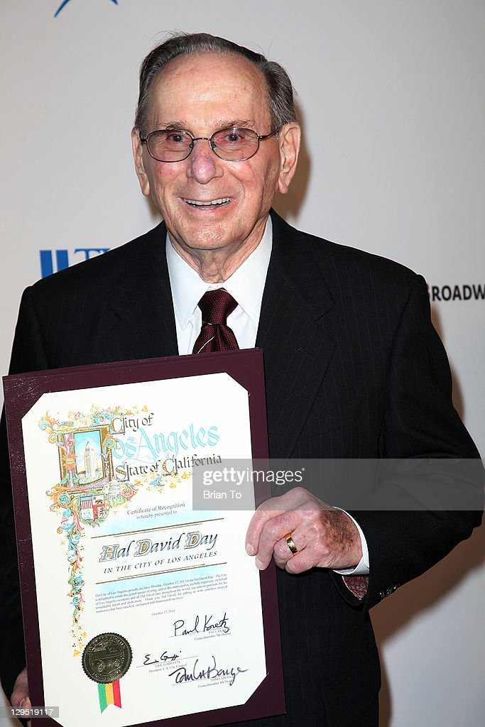 Lyricist Hal David attends 'Love, Sweet Love' musical tribute to Hal David at Mark Taper Forum on October 17, 2011 in Los Angeles, California.