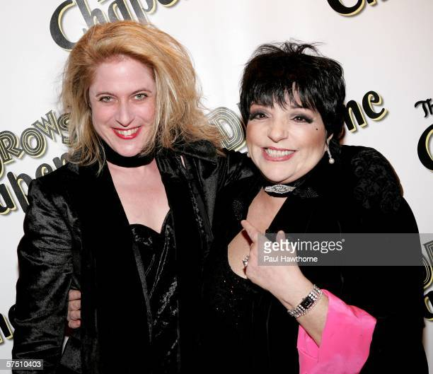 """Lyricist Lisa Lambert and Liza Minnelli attend the opening night of the new Broadway musical and comedy """"The Drowsy Chaperone"""" at the Marquis Theatre..."""
