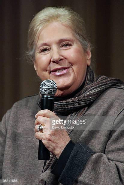 Lyricist Marilyn Bergman attends a Society of Composers Lyricists/ASCAP QA prior to a screening of The Informant at the Linwood Dunn Theater on...