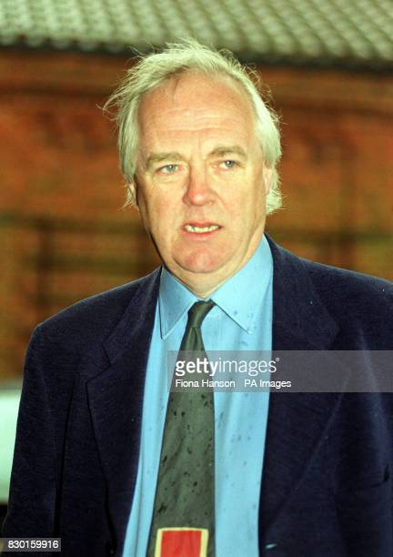 Lyricist Tim Rice attends the funeral of composer Lionel Bart Friends from the world of showbiz gathered at Golders Green Crematorium in London to...