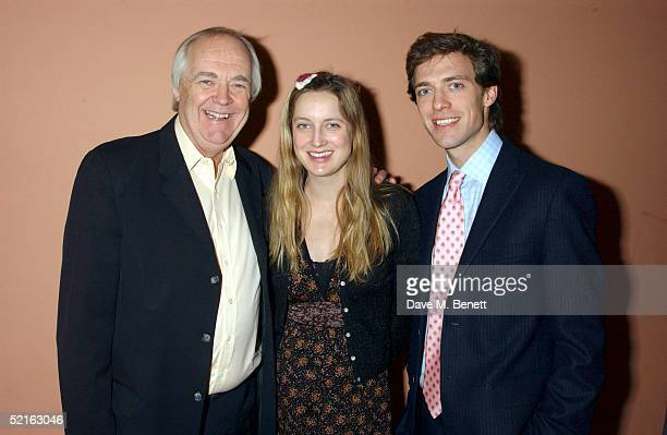 Lyricist Tim Rice with children Eva Rice and Donald Rice attend the book launch for historian Andrew Roberts new book Waterloo at the English...