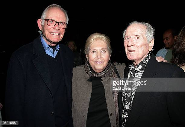 Lyricists Alan Bergman and Marilyn Bergman and songwriter Jerry Leiber attend ASCAP's reception honoring Marvin Hamlisch and the Bergmans at the...