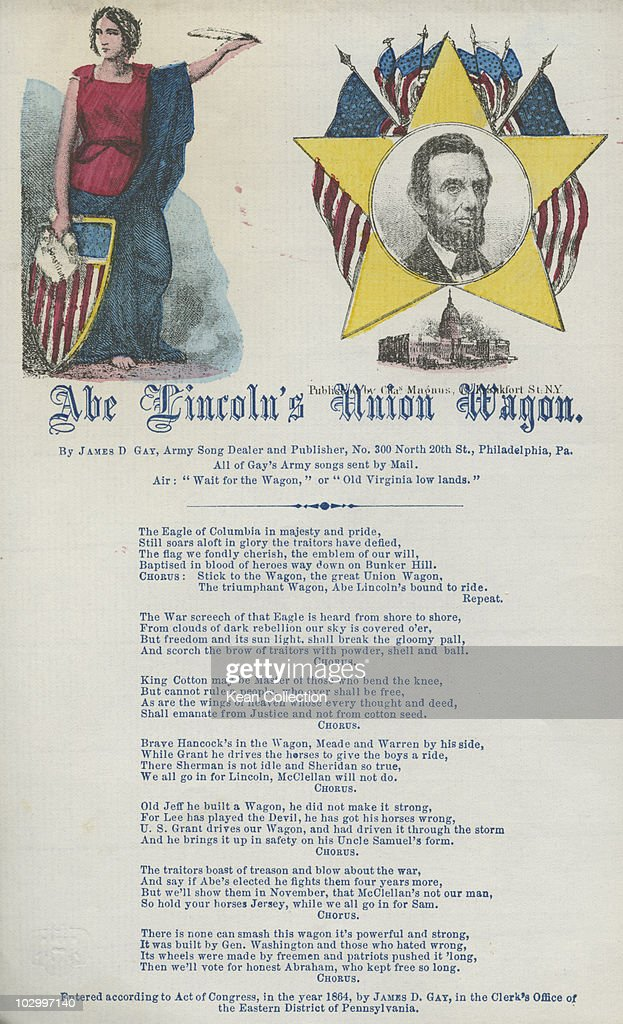 Lyrics of the army song 'Abe Lincoln's Union Wagon' by James