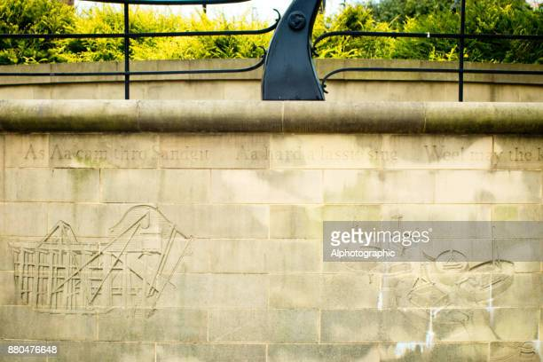 lyrics on a wall - sandstone wall stock pictures, royalty-free photos & images