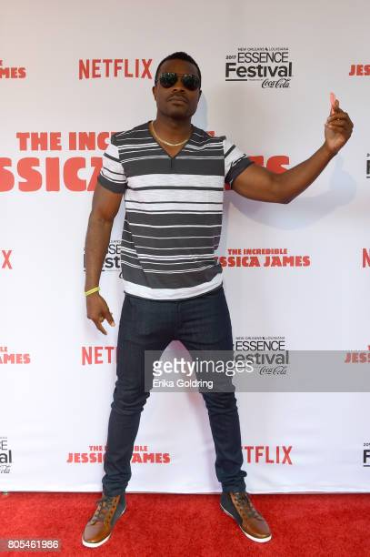 Lyriq Bent attends the Premiere Of Netflix Original Film The Incredible Jessica James At The 2017 Essence Festival on July 1 2017 in New Orleans...