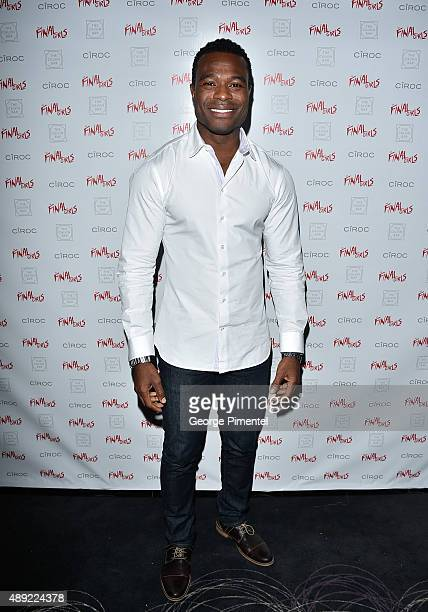 Lyriq Bent attends the The Final Girls TIFF party at America Trump Tower Toronto Hosted By Ciroc on September 19 2015 in Toronto Canada
