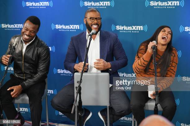 Lyriq Bent Tyler Perry and Taraji P Henson take part as Hoda Kotb hosts a live SiriusXM event with Taraji P Henson Tyler Perry and the cast of...