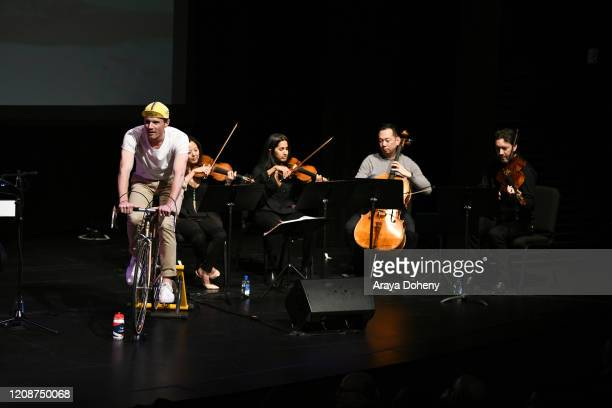 "Lyris Quartet at the Film Independent Screening Series Presents Live Read Of ""Breaking Away"" at Wallis Annenberg Center for the Performing Arts on..."