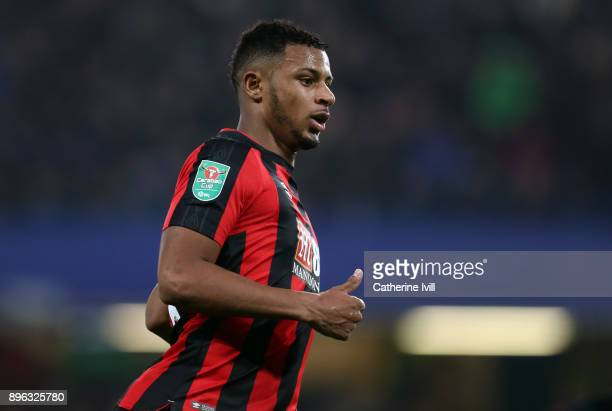 Lys Mousset of AFC Bournemouth during the Carabao Cup QuarterFinal match between Chelsea and AFC Bournemouth at Stamford Bridge on December 20 2017...