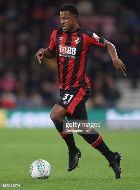 Lys Mousset of AFC Bournemouth in action during the Carabao Cup Third Round match between Bournemouth and Brighton and Hove Albion at Vitality...
