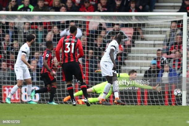 Lys Mousset of AFC Bournemouth scores his sides first goal during the Premier League match between AFC Bournemouth and Crystal Palace at Vitality...